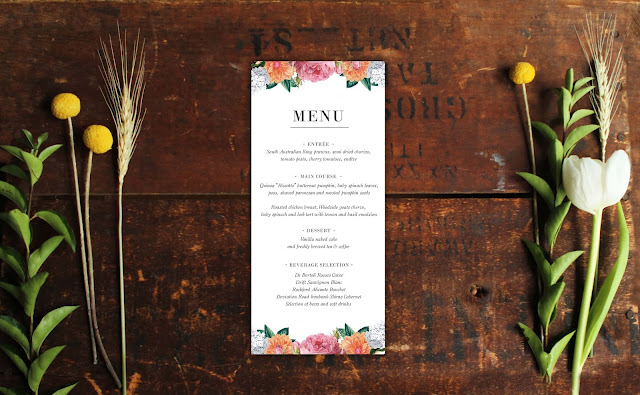 Vintage Botanical Wedding Invitations floral wedding stationery australia perth melbourne adelaide sydney rustic chic glam pretty flowers petals rose dahlia spring autumn barn farm woodland wedding sail and swan