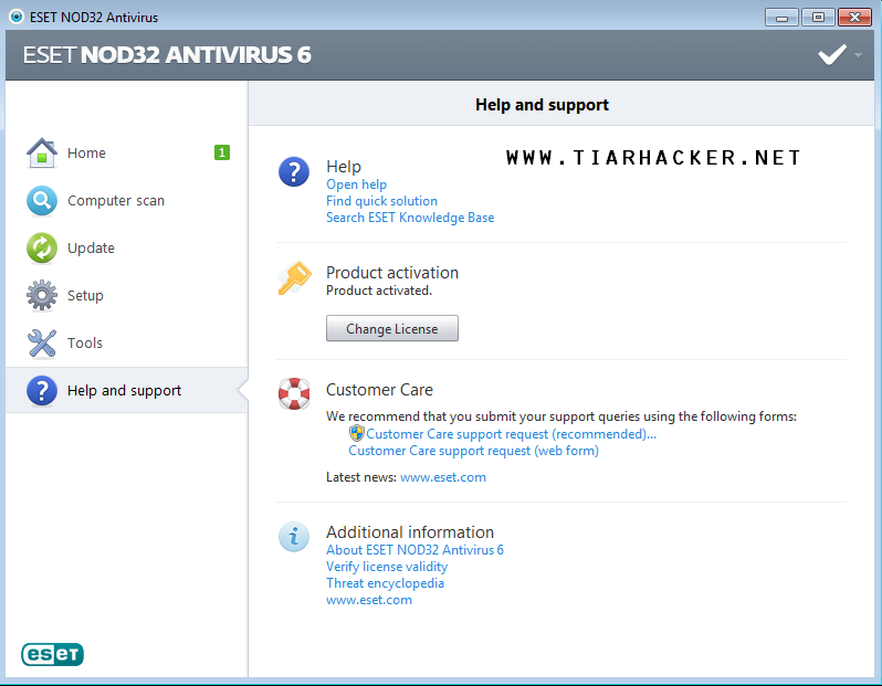Free Download ESET NOD32 Antivirus 6 Full Version For PC + Activator