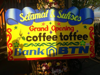 grand opening coffee toffe banjarmasin