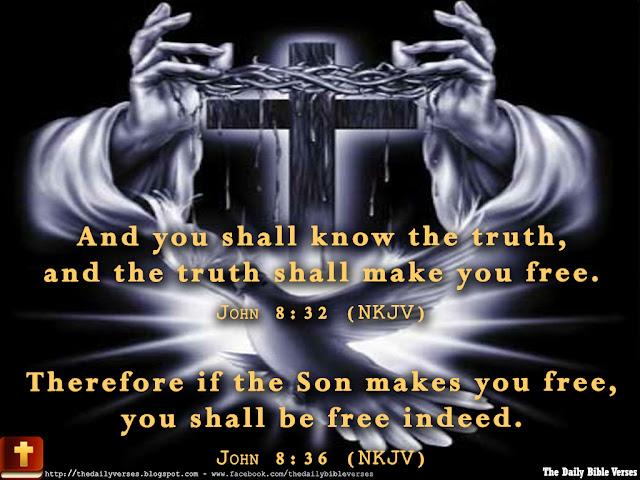 Daily Bible Verses John 8 32 John 8 36