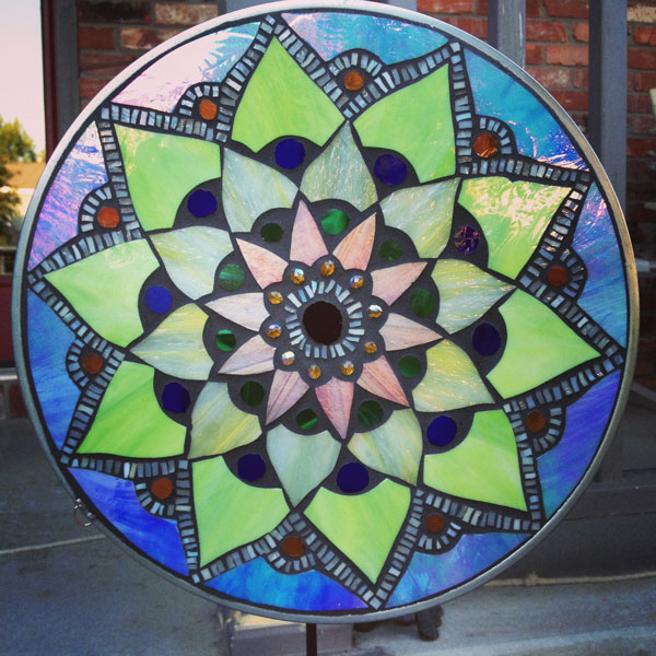 Calyx glass blog lotus mosaic mandala pattern for Mosaic patterns online