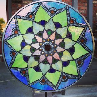 Lotus Mosaic Mandala in Pastels