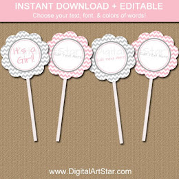 Shop: Baby Shower Cupcake Toppers