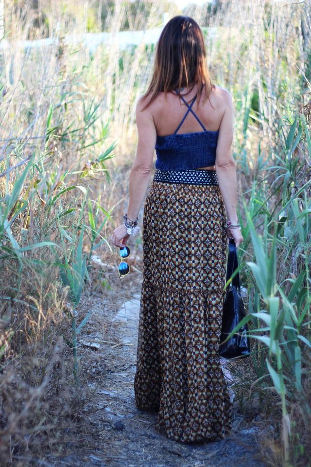 Falda larga - Aires bohos - Denny Rose - Cuchicuchi Joyas - Calzados Sandra - Streetstyle - hippie - boho
