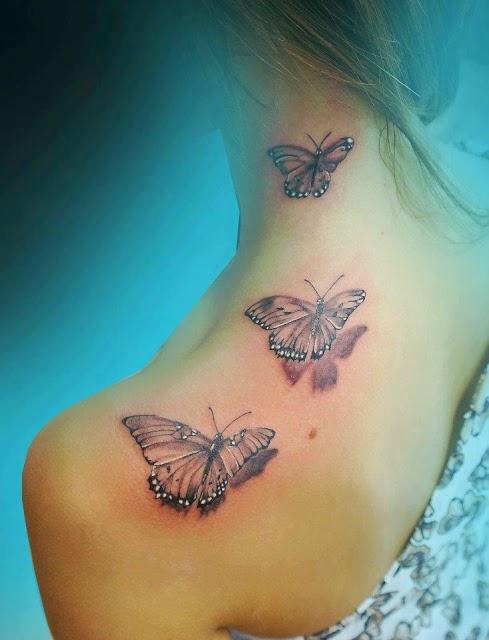 3d Realistic Tattoo On Neck