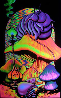 alice in wonderland uv poster blacklight