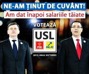 Alegeri 9 Decembrie. VOTATI USL
