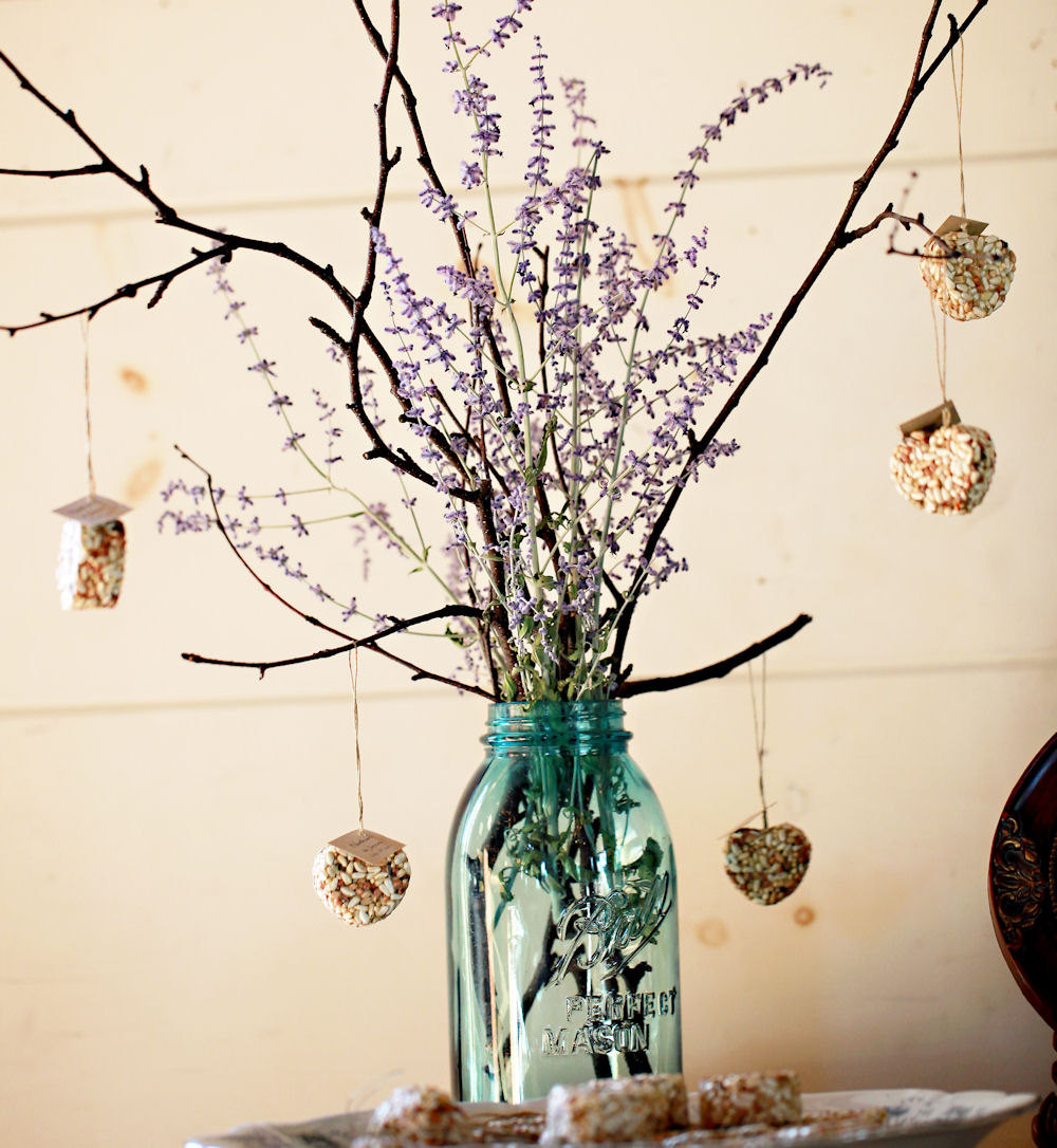 Creative diy centerpiece decorations nature style nature favors - Decoration table nature ...