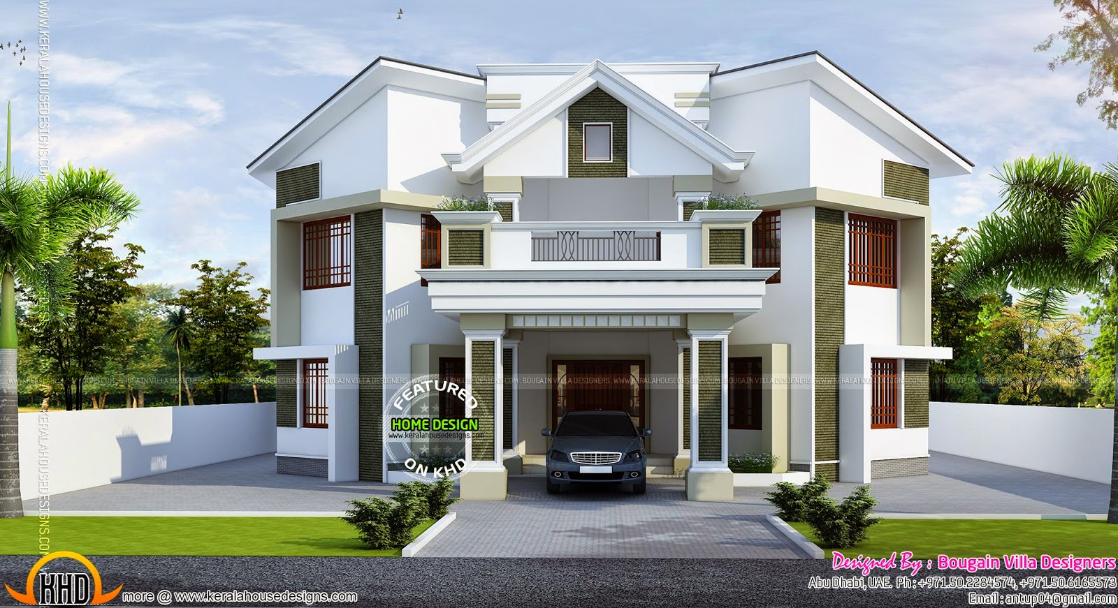Contemporary kerala style house kerala home design and for Modern house uae