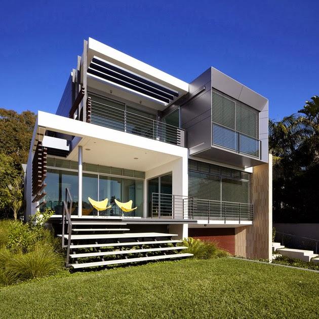 Desain Rumah dengan Tangga Spiral Outdoor | Model Denah Rumah ...
