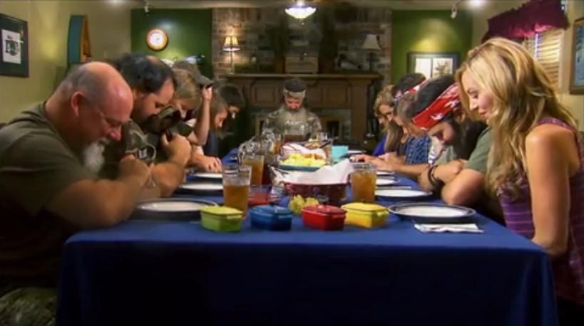 Duck Dynasty Family Dinner Prayer