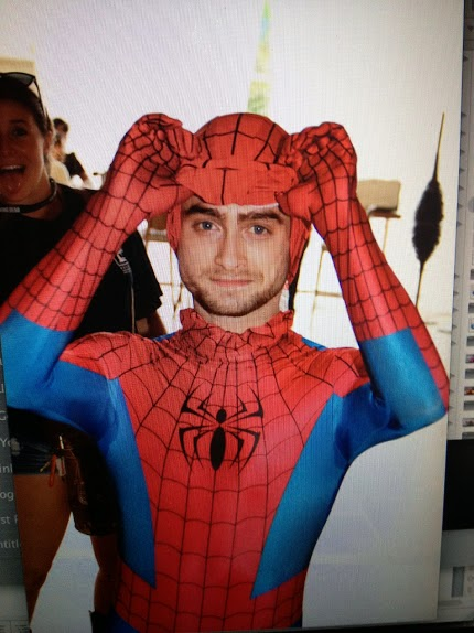 Harry Potter's Spider-Man outfit Daniel Radcliffe costume