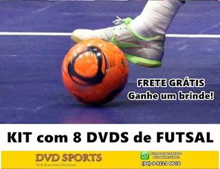 Kit com treinamento completo de Futsal com brinde!