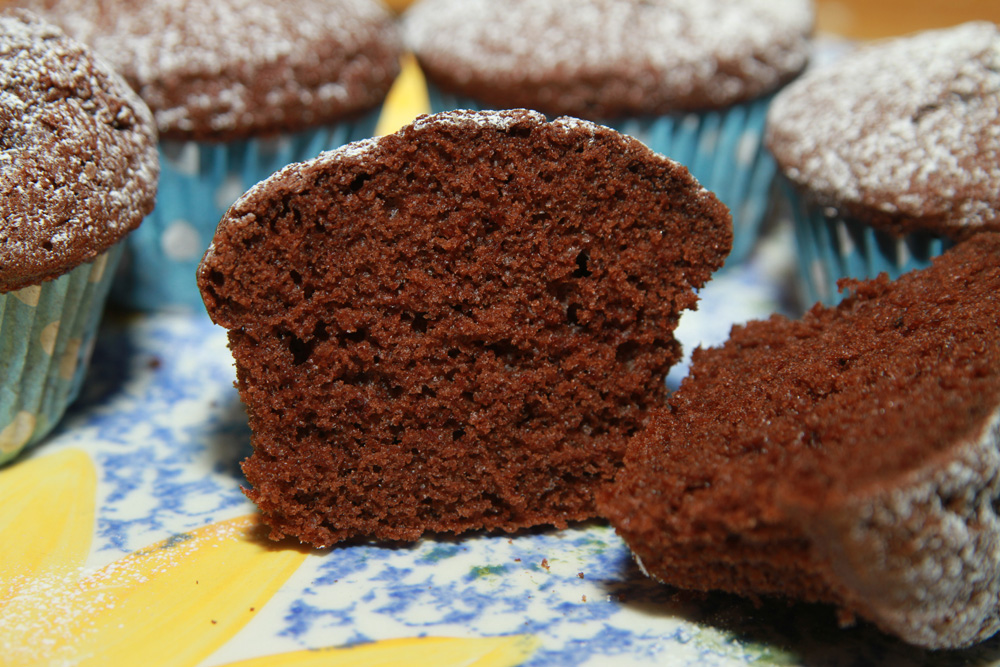 light fluffy chocolate cupcakes