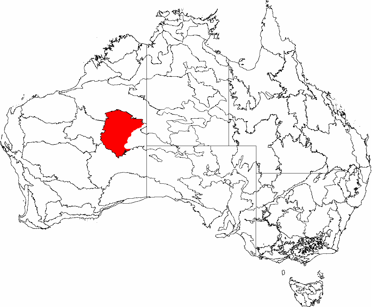 Map of austral.