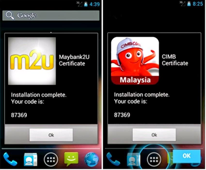 MALWARE ZEUS TROJAN SASAR PENGGUNA MAYBANK2U CIMBCLICKS MELALUI SMARTPHONE ANDROID