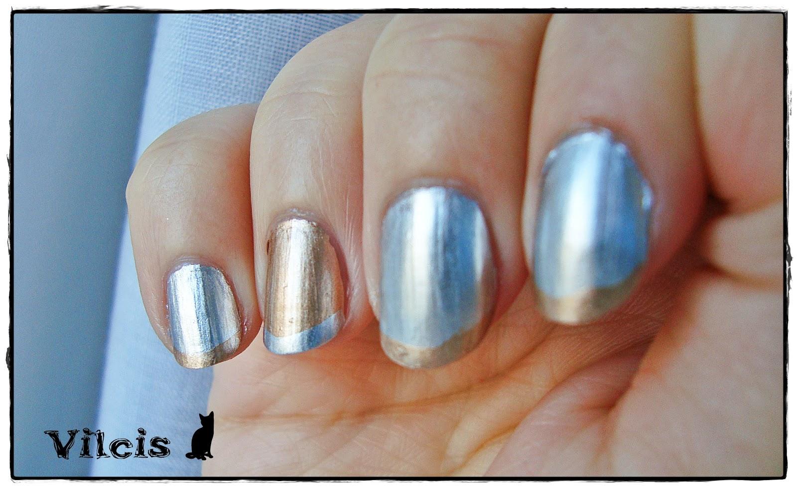 Vilcis nail designs: Desafío 31 días - Día 8 - Uñas metálicas