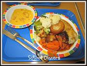 roast dinner, school dinner,. Kizzy had the same as me and I was impressed . (school dinners)