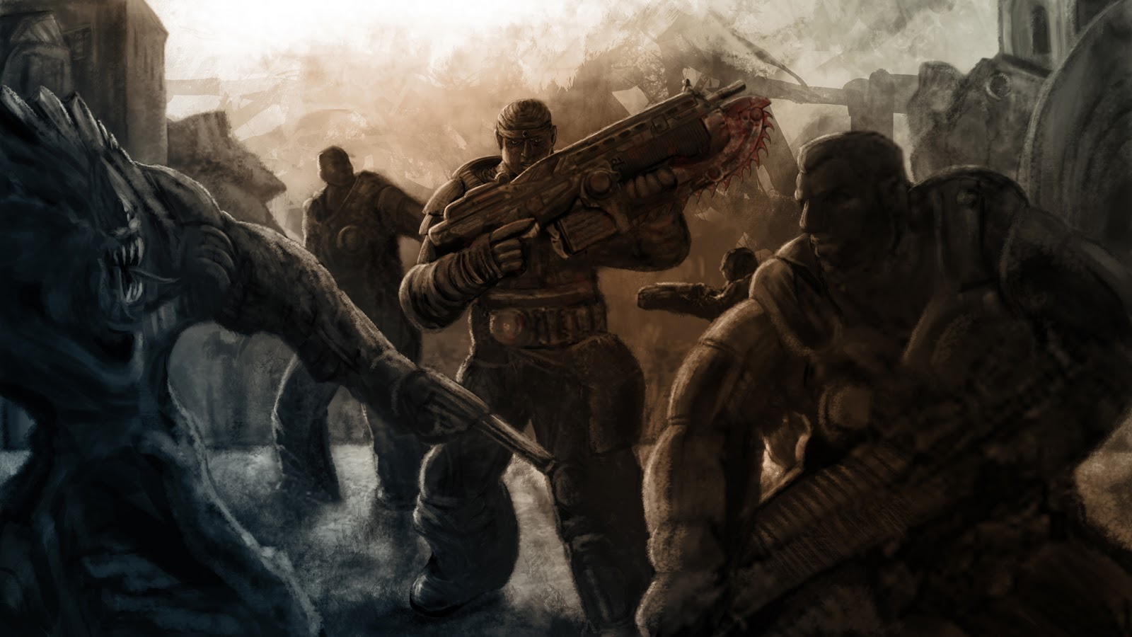 Gears of War HD & Widescreen Wallpaper 0.717445543159627