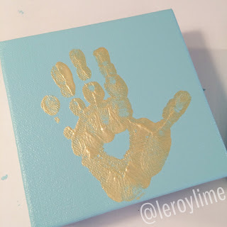 Golden Handprints - Kid Craft - LeroyLime