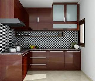 Desain kitchen set model L terbaru