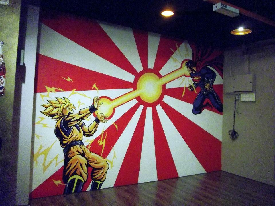 warna arts interior mural painting slurp cafe