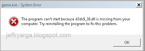 d3dx9_30.dll is missing