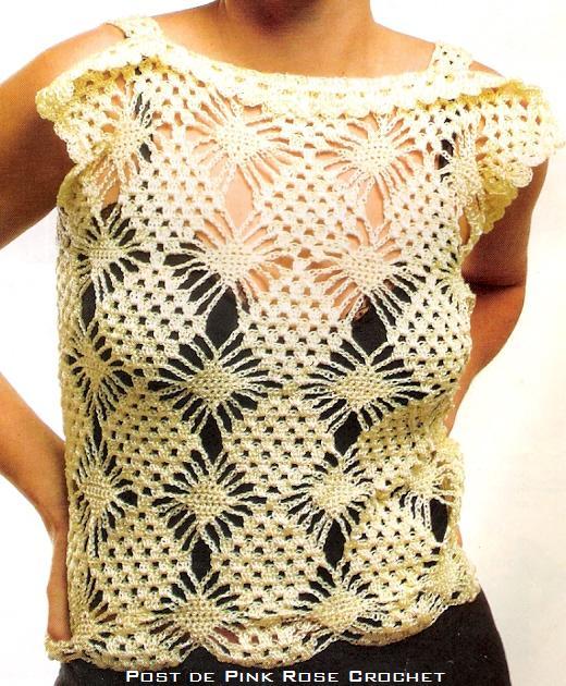 Blusa Amarelo Gema em Crochê: Crochet com Arte