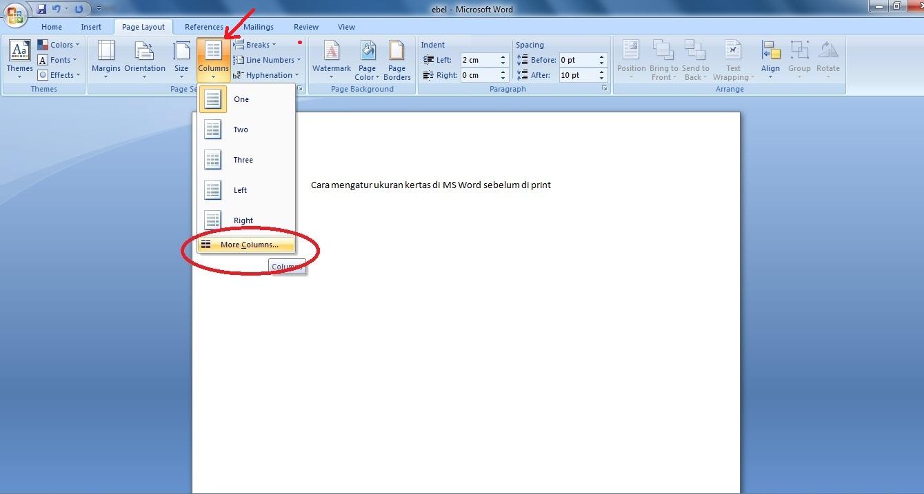 Cara Mengatur Ukuran Kertas Di MS Word Sebelum Print
