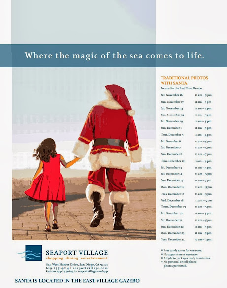 2013 Santa Schedule at Seaport Village