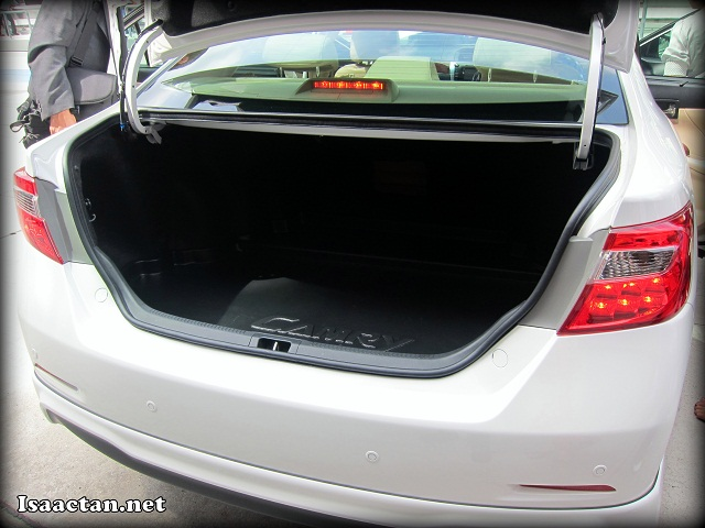 Huge boot space available in the new Toyota Camry
