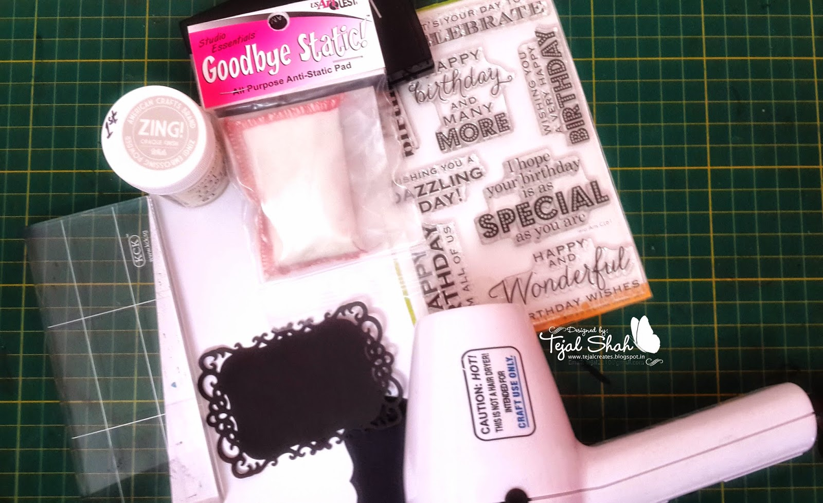Crafters corner goodbye static pad review for American crafts zap embossing heat gun