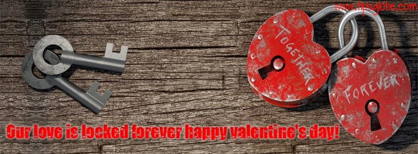 Heart Shape Lockers Locked with keys Valentine Facebook Profile Cover