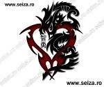 tribal dragon tattoo / heart tattoo / kanji tattoo