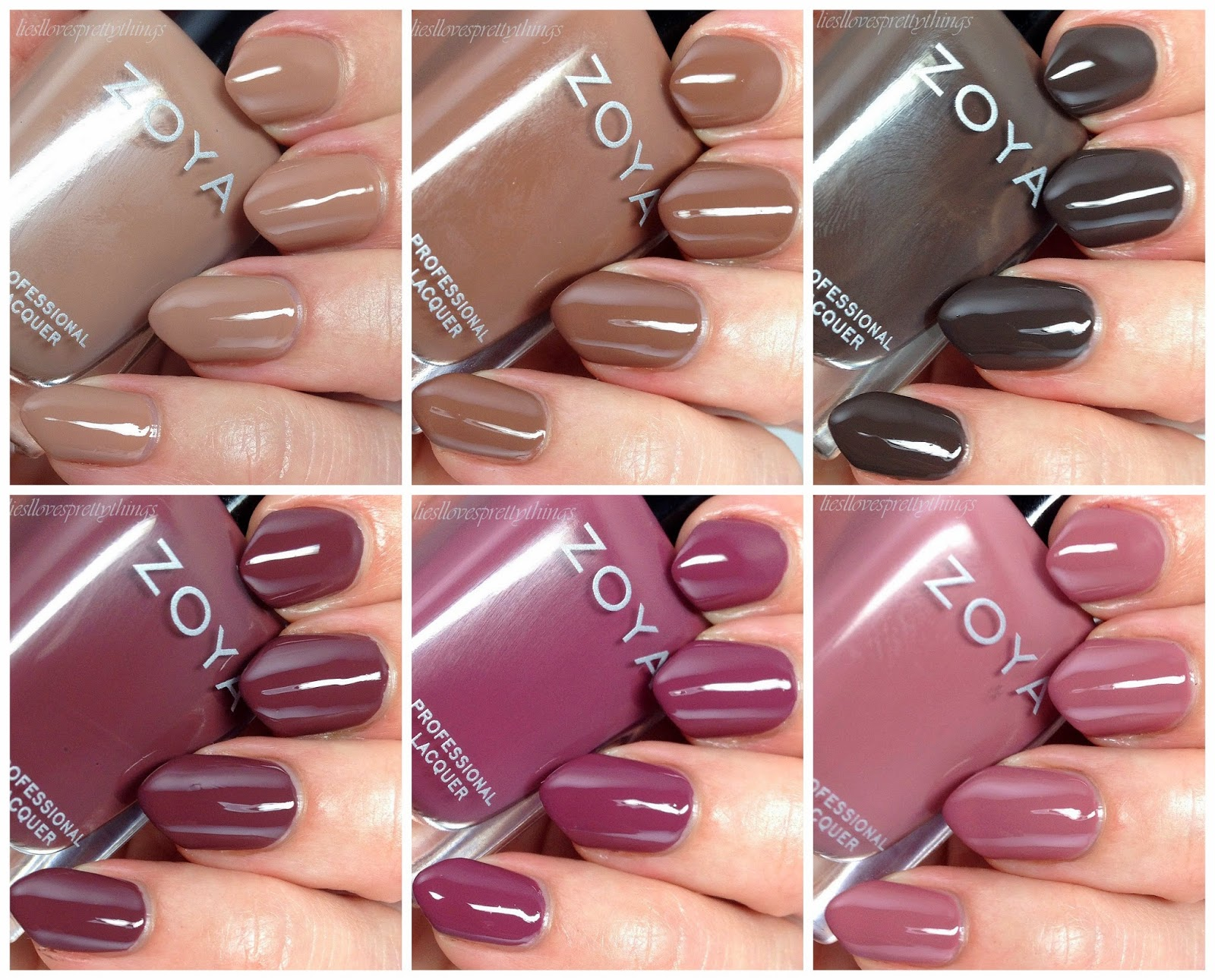 Zoya Naturel Deux collection swatch and review