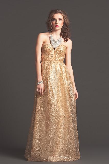 Sarah Seven gold dress