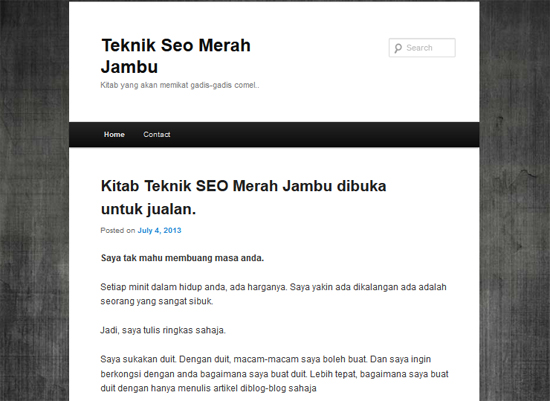 Teknik SEO jana income blog
