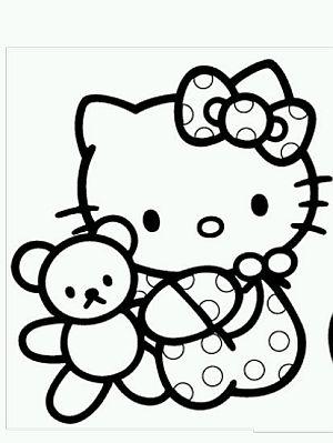 Latest Dibujos De Hello Kitty Para Pintar Parte