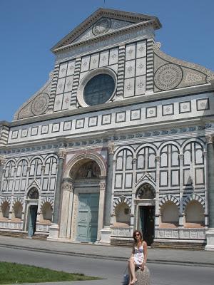 Santa María de la Novella, con la fachada de mármol