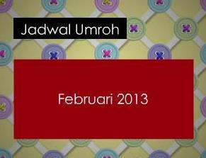 jadwal umroh februari 2013