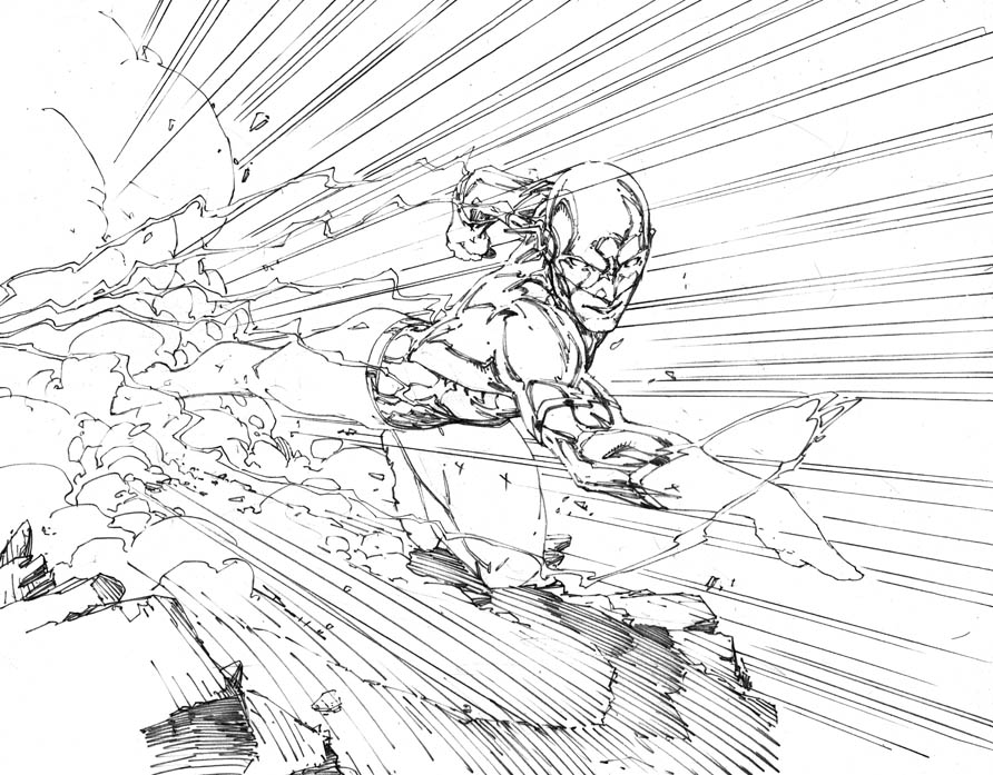 a more finished wally westflash 3 - Flash Running Coloring Pages