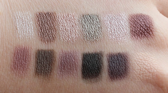 Swatches of redemption palette romantic smoked