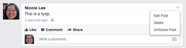 facebook mobil düzenleme özelliği