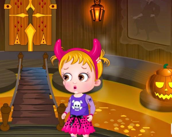 Free Kids Games: Baby Hazel in Halloween Castle