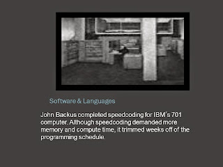 JOHN BACKUS IBM 701 COMPUTER