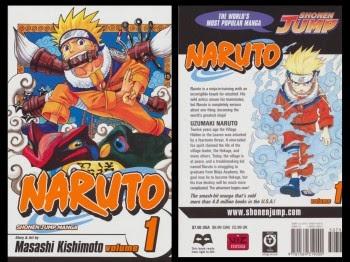 Muka depan komik Naruto episod pertama yang diterbitkan di Jepun pada Ogos 1997.