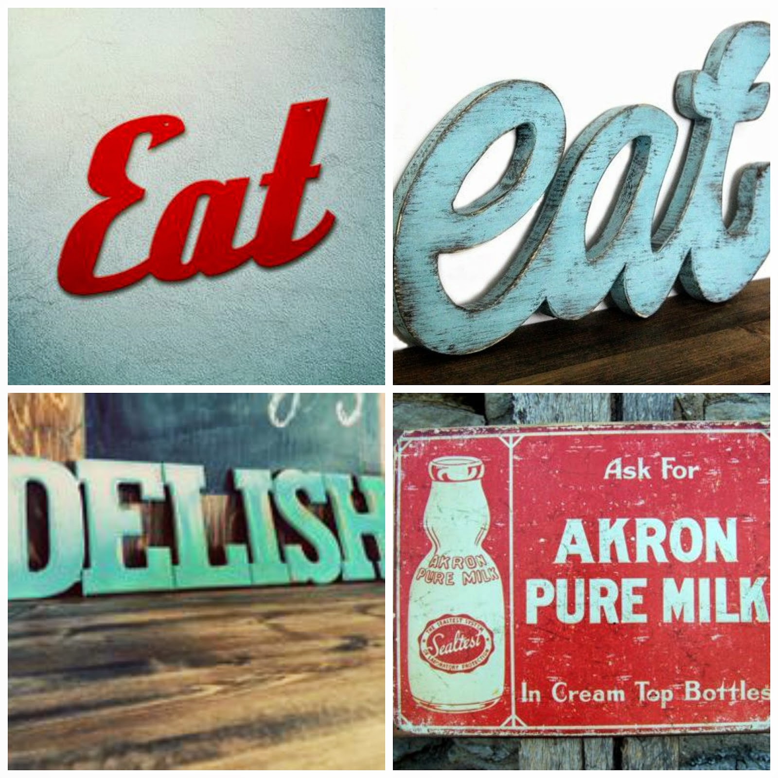 Retro Kitchen Signs: Our Hopeful Home: DIY Retro Kitchen EAT Sign Reveal
