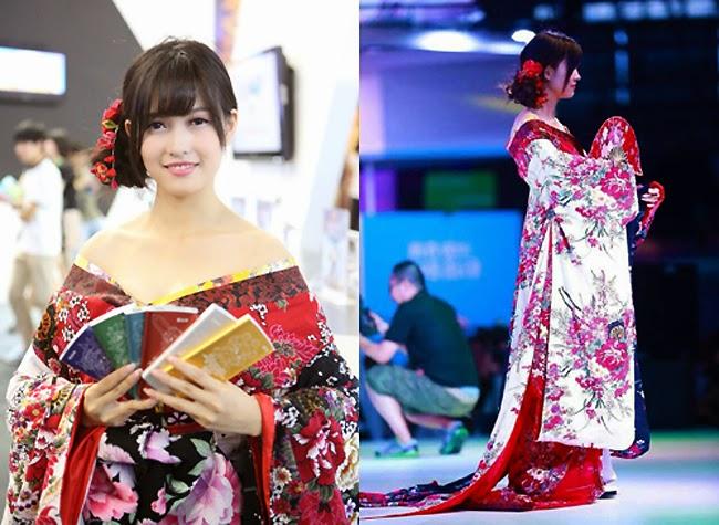 Biến tấu sexy, táo bạo từ kimono của mỹ nữ châu Á