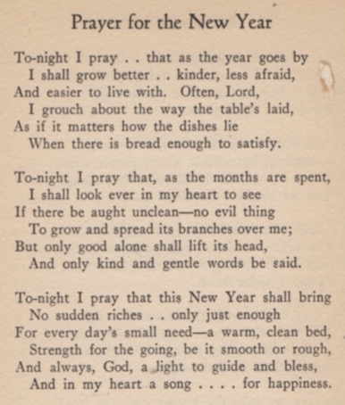 The Dusty Bookcase: A Poet Laureate\'s \'Prayer for the New Year\'