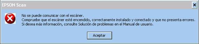 Eoson Scan error